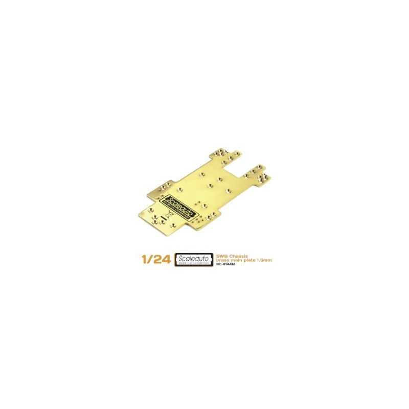 Chassis plate SC-8001 SWB Brass 1.5mm.